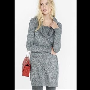 Express Gray Marbled Sweater Dress